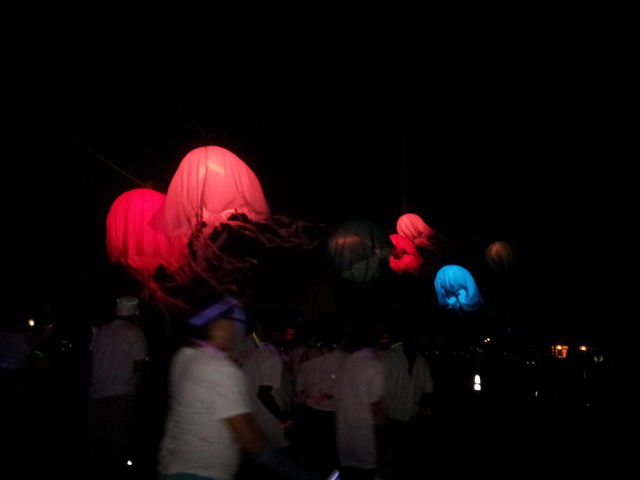 As Much Fun We Had During The Run I Think Even More Afterwards They A DJ Lots Of Techno Music And Random Glow Things Being