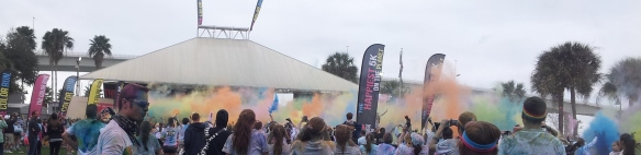 Color at the color run Jan