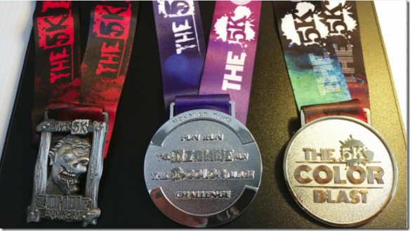 Zombie Color Medals